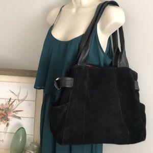 Tognanello Black Suede leather shoulder bag